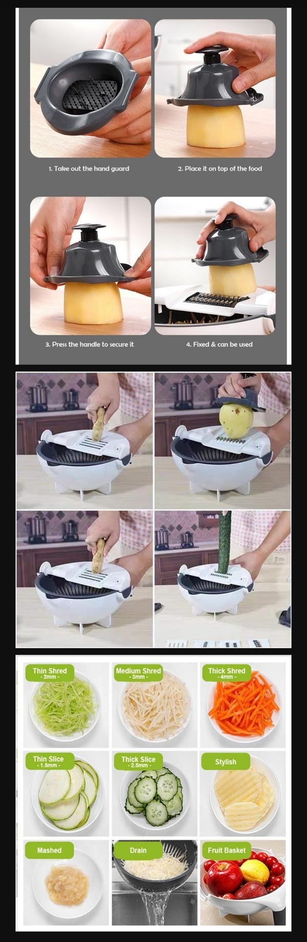 Vegetable Cutter With Drainer