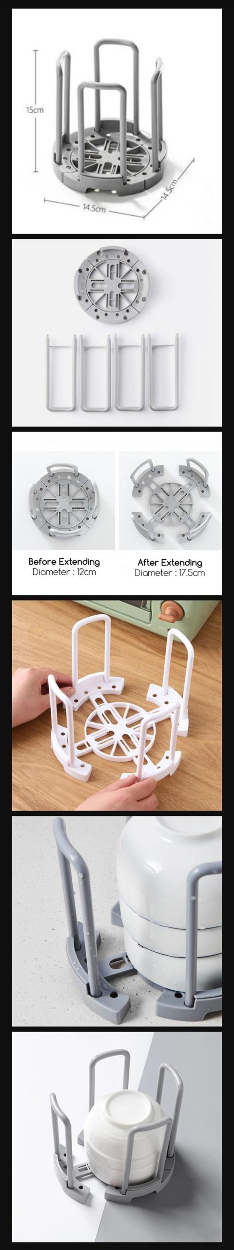 Retractable Bowl Stand